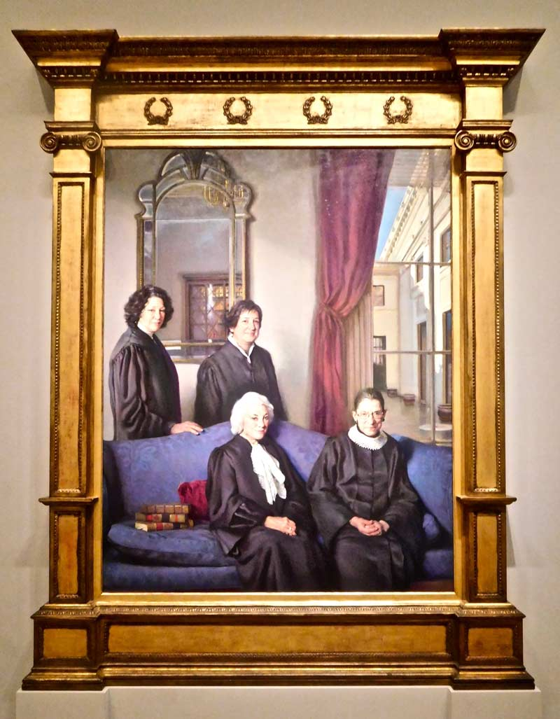 The Four Justices of the Supreme Court at the National Portrait Gallery - Women-focused things to do in Washington, DC
