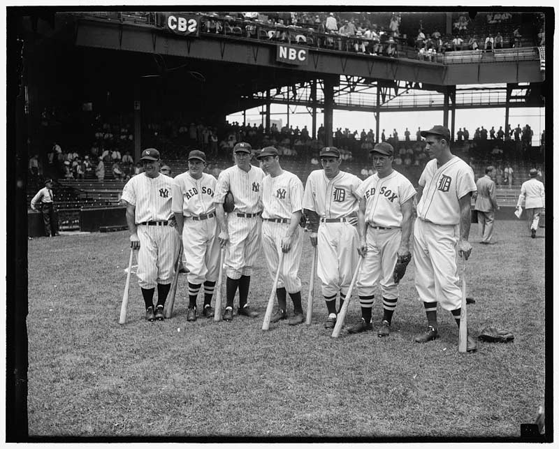 1937 American League All Star team at Griffith Stadium in DC - Ways to engage with baseball in Washington, DC