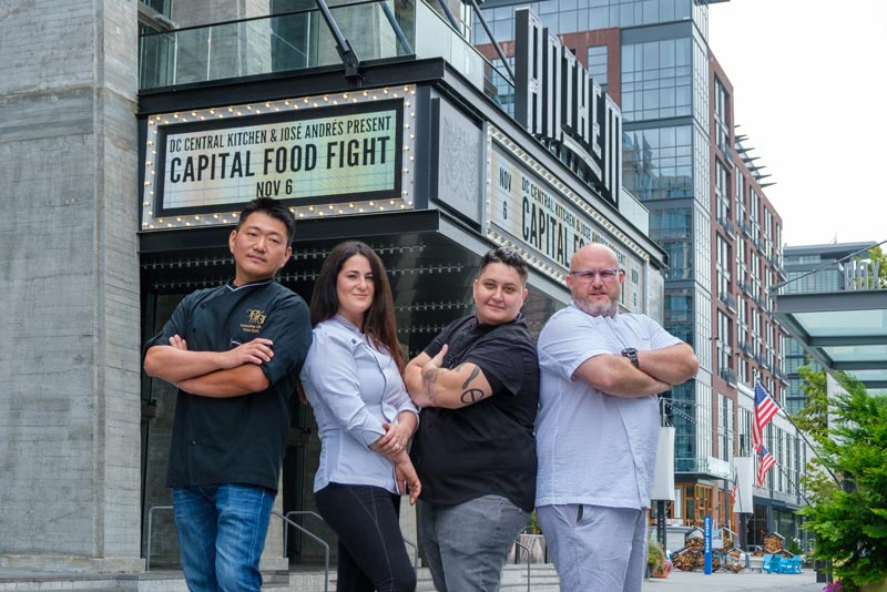 Chef contestants for DC Central Kitchen's Capital Food Fight this November at The Anthem in Washington, DC