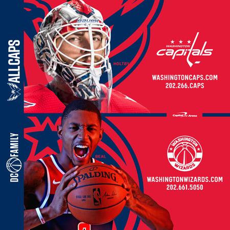 Washington Wizards and Washington Capitals