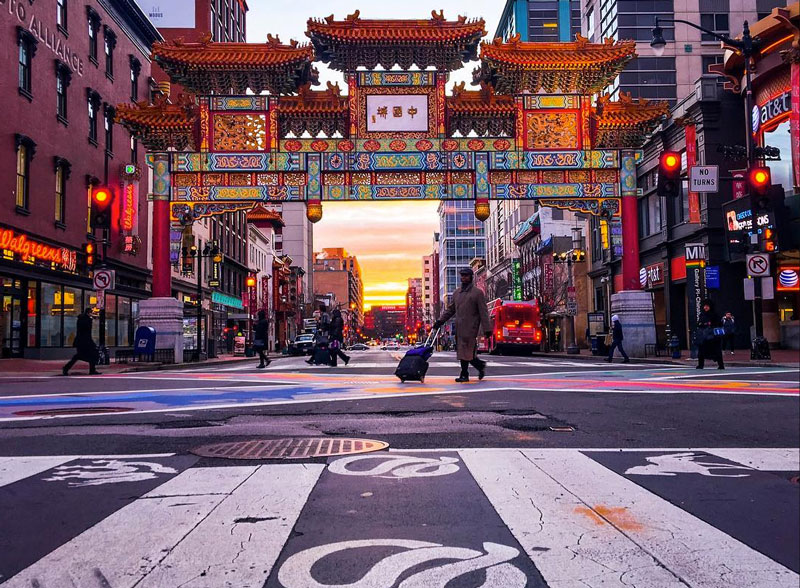 @_chriscruz - Chinatown Friendship Archway at Sunrise - Washington, DC