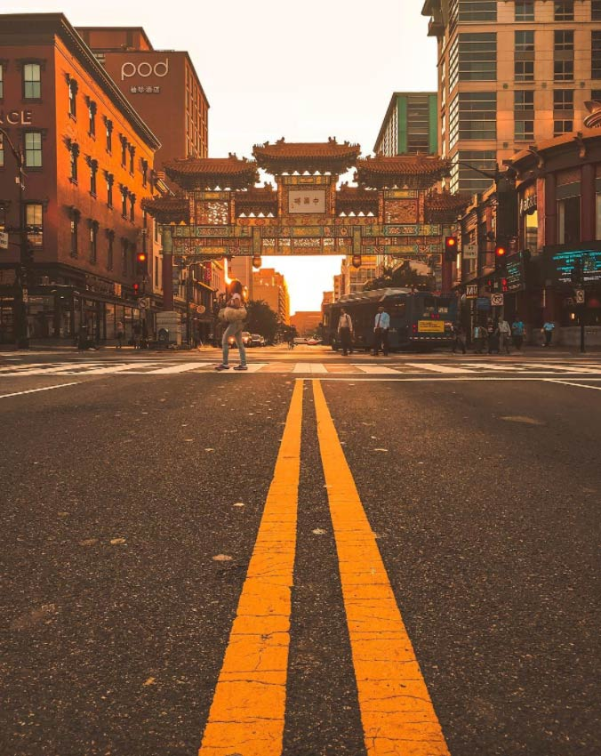 @_chriscruz - Sunrise at the Chinatown Friendship Archway - Neighborhoods in Washington, DC