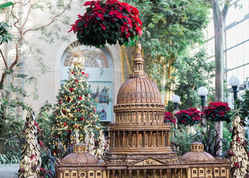 @abroadwife - Holiday displays at the United States Botanic Garden's Seasons Greenings - Winter holiday events in Washington, DC
