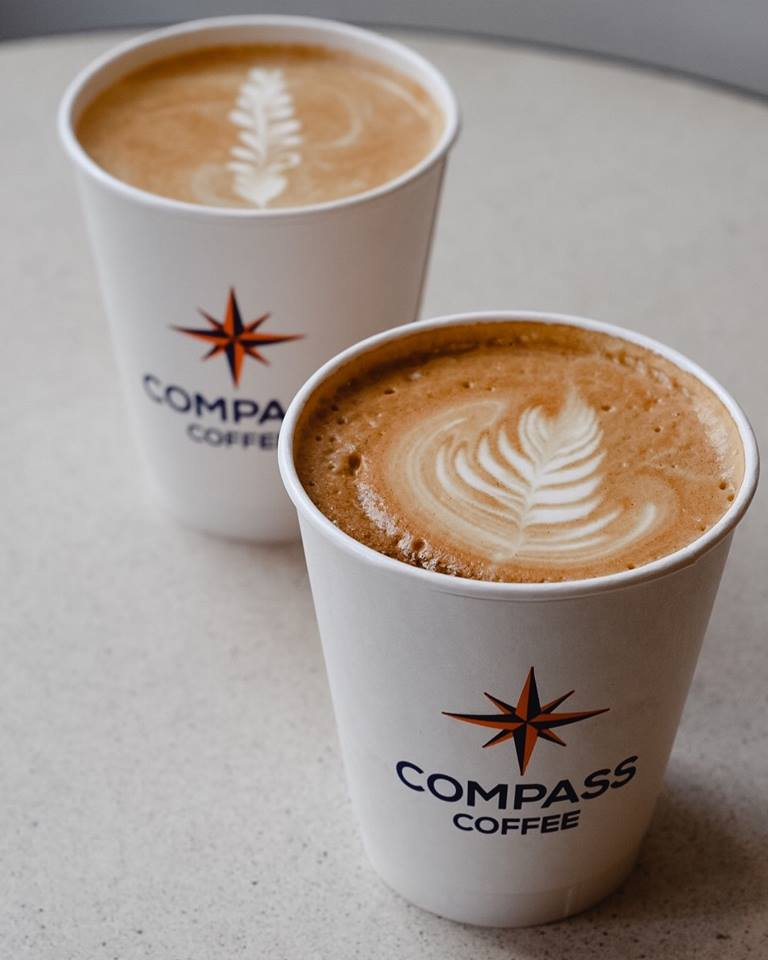 Lattes from Compass Coffee - Coffee shops in and near the Walter E. Convention Center
