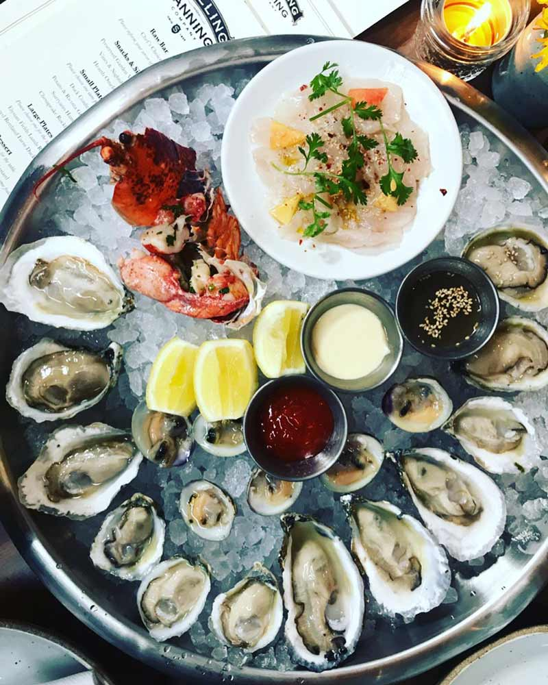 @amarisbradley - Raw bar selection from Shilling Canning Company - Best places to eat in the Navy Yard Capitol Riverfront area