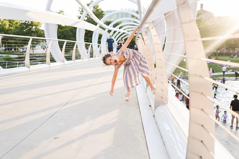 @amy_hashimoto - Child playing on the bridge at Yards Park on the Capitol Riverfront - Family-friendly things to do in Washington, DC