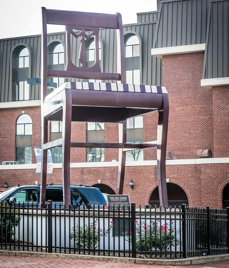 The Big Chair in Washington, DC's Anacostia neighborhood - Things to do in Anacostia