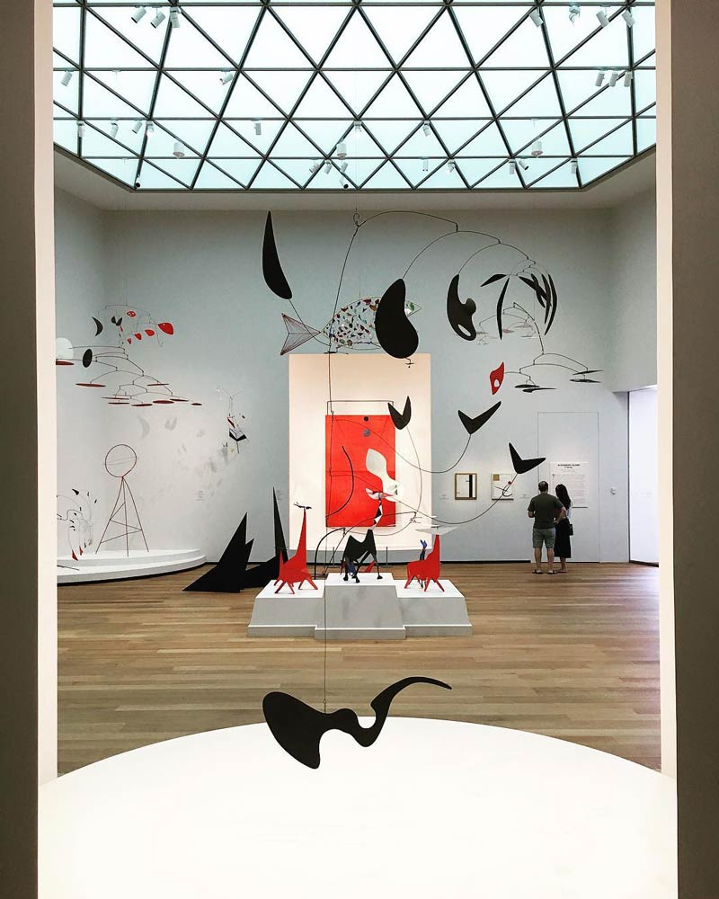 @aquinsta - Alexander Calder artworks at National Gallery of Art East Building in Washington, DC - Free modern art museum on the National Mall