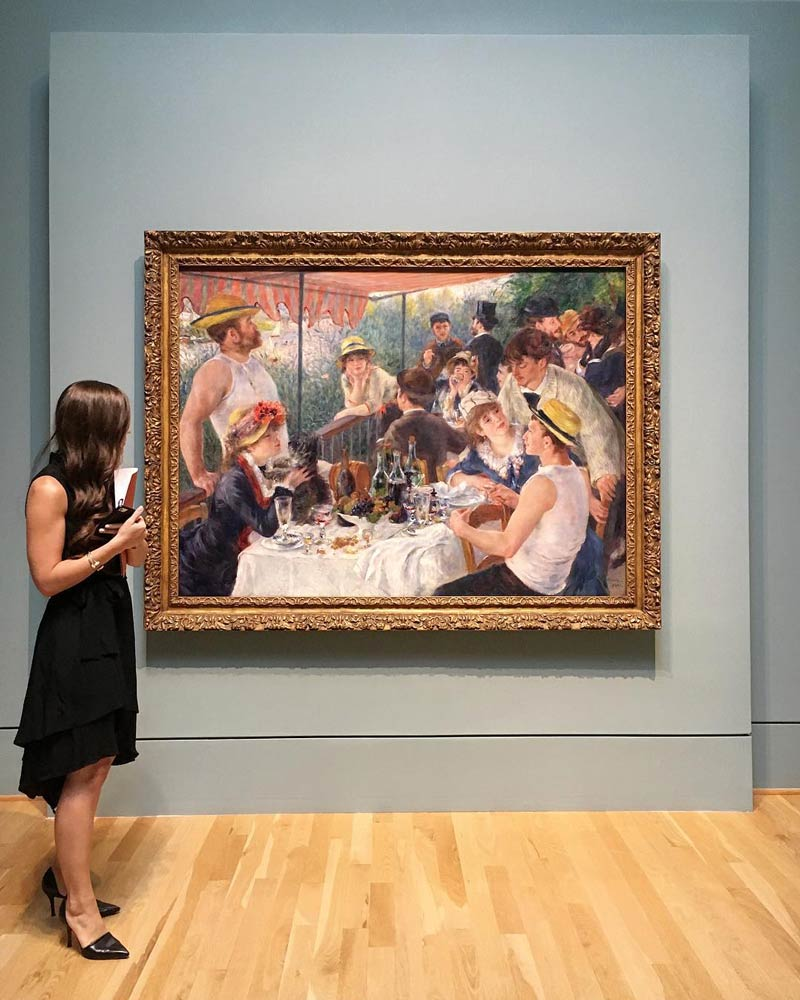 @aquinsta - Renoir's Luncheon of the Boating Party at The Phillips Collection - Art Museum in Washington, DC