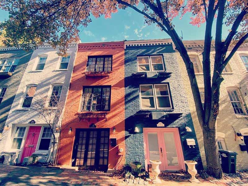@asialiu - Colorful Washington, DC Row Houses