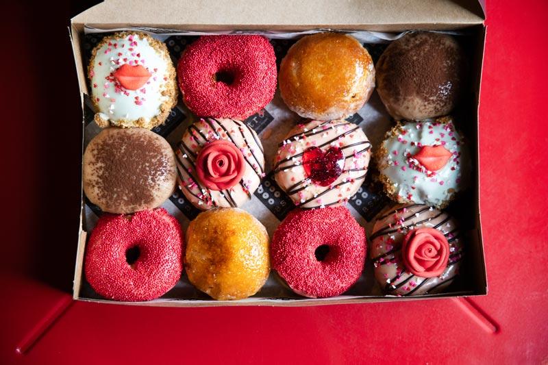 Astrodoughnuts' Valentine's Day doughnuts