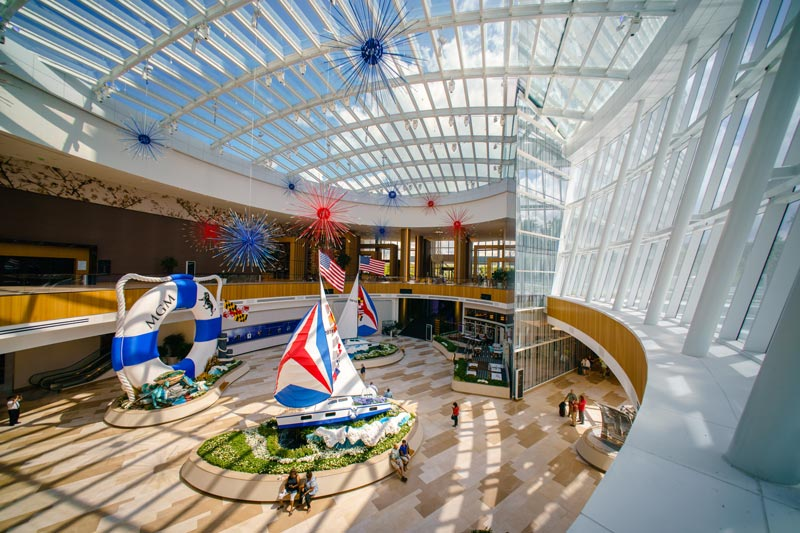 MGM National Harbor lobby - Shopping, gambling, dining and entertainment near Washington, DC