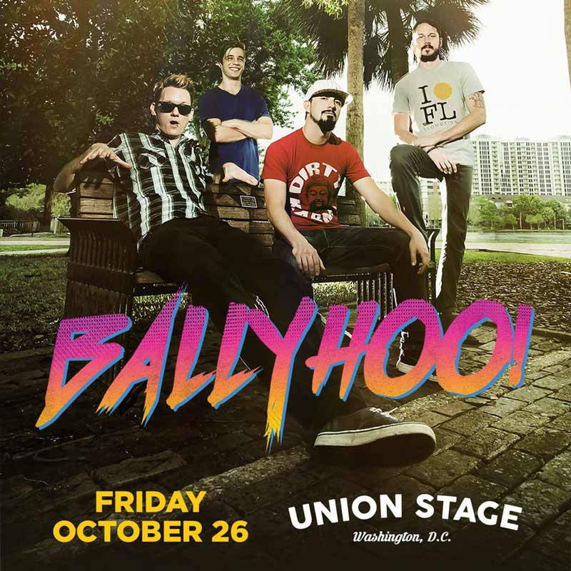 Ballyhoo! concert at Union Stage on The Wharf in Washington, DC this fall