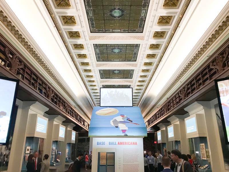 Baseball Americana exhibit at the Library of Congress - Free baseball exhibit in Washington, DC