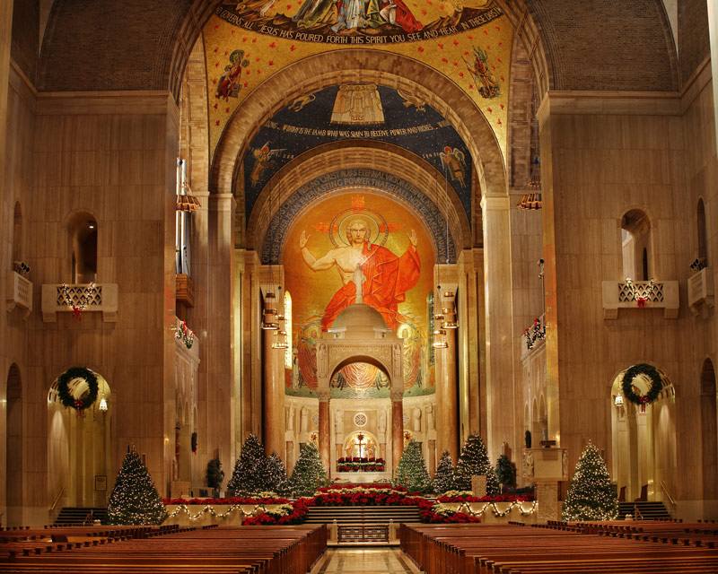 Basilica of the National Shrine of the Immaculate Conception - Holiday Displays in Washington, DC