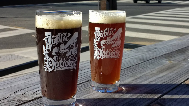 Local craft beers from The Public Option - Brewpub in Washington, DC's Brookland neighborhood