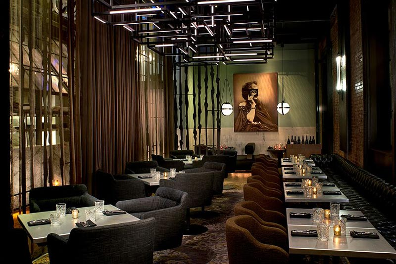 Private dining space at Dirty Habit in the Kimpton Hotel Monaco - Great intimate restaurants in Washington, DC
