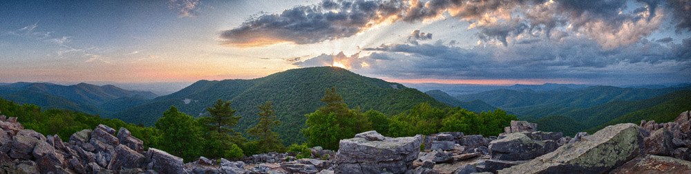 Blackrock Summit Sunset - Shenandoah National Park