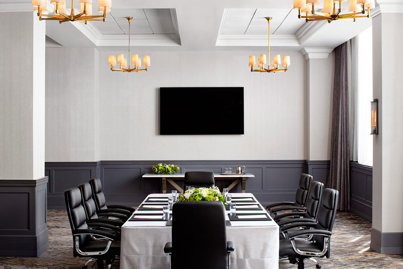 Natural light-filled boardroom at the St. Gregory Hotel - Meetings in Washington, DC