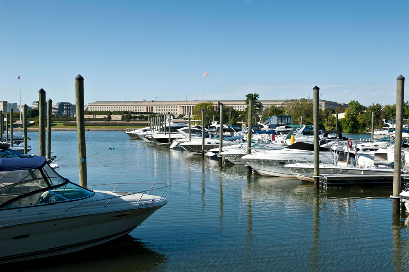 Boats docked at Columbia Island Marina near Arlington, Virginia - Outdoor boating and recreation near DC