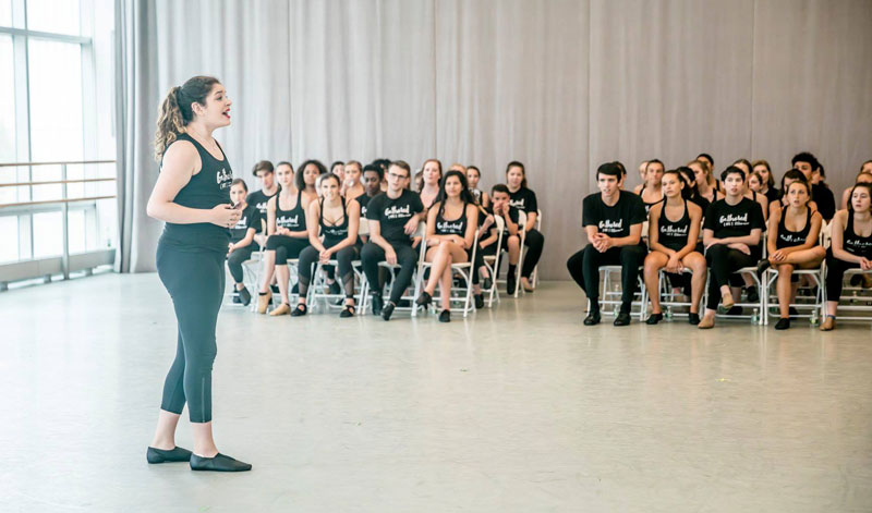 Workshop class from The Broadway Collective - The Kennedy Center REACH opening festival programming