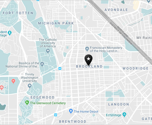 Brookland neighborhood map
