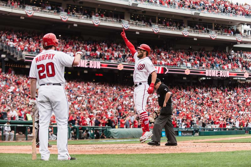 Bryce Harper and Daniel Murphy of the Washington Nationals - Reasons to attend a baseball game in Washington, DC