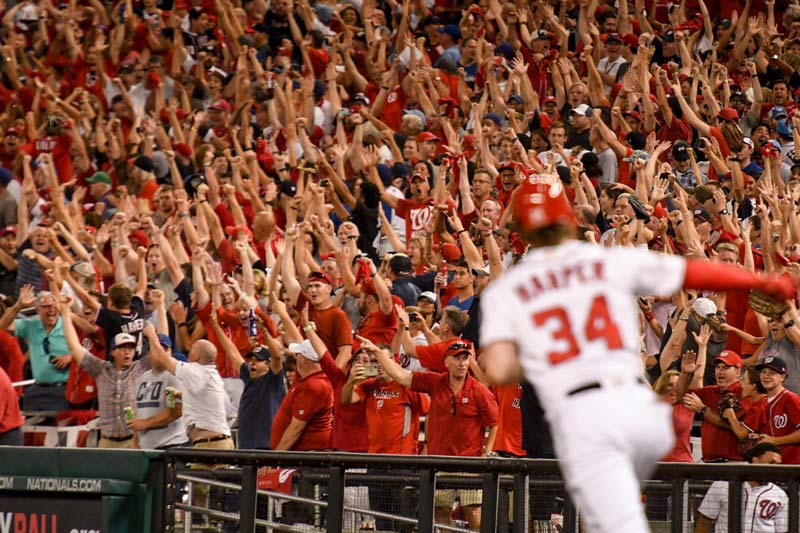 Bryce Harper of the Washington Nationals - Reasons to see professional baseball in Washington, DC