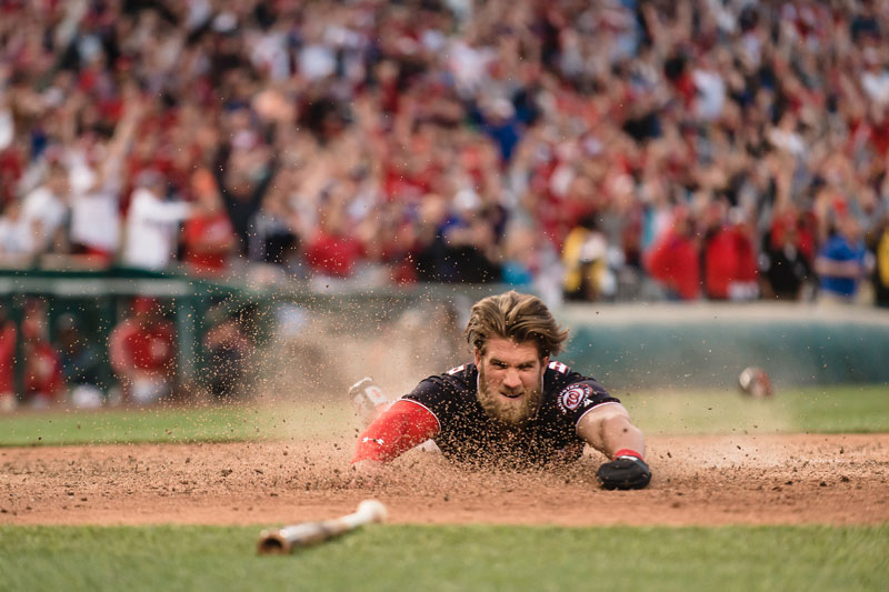 Bryce Harper of the Washington Nationals - Reasons to attend a baseball game in Washington, DC