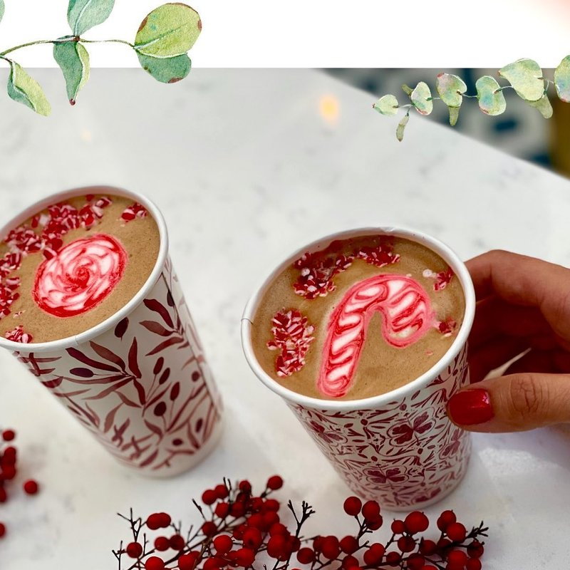 @cafegeorgetowndc - peppermint mocha and peppermint hot chocolate