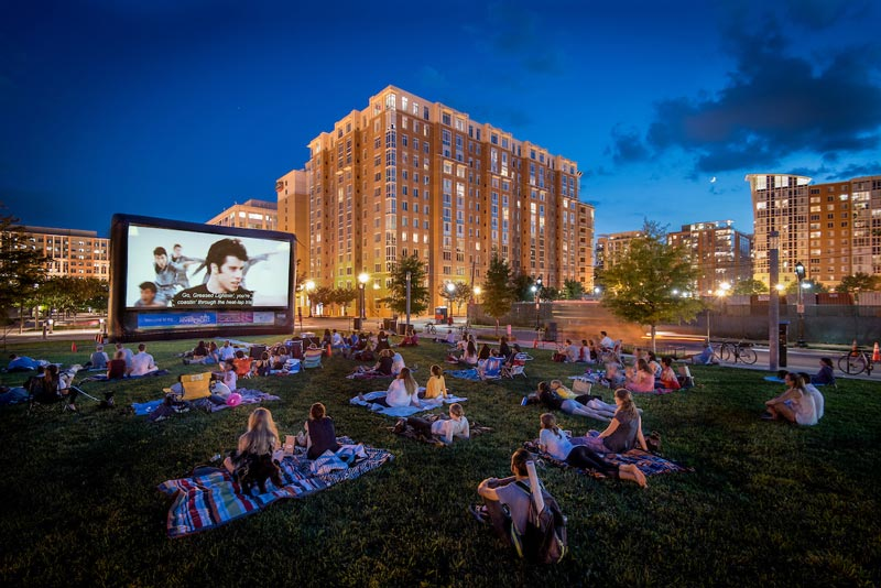 Summer outdoor movie series on the Capitol Riverfront - Free outdoor things to do in Washington, DC