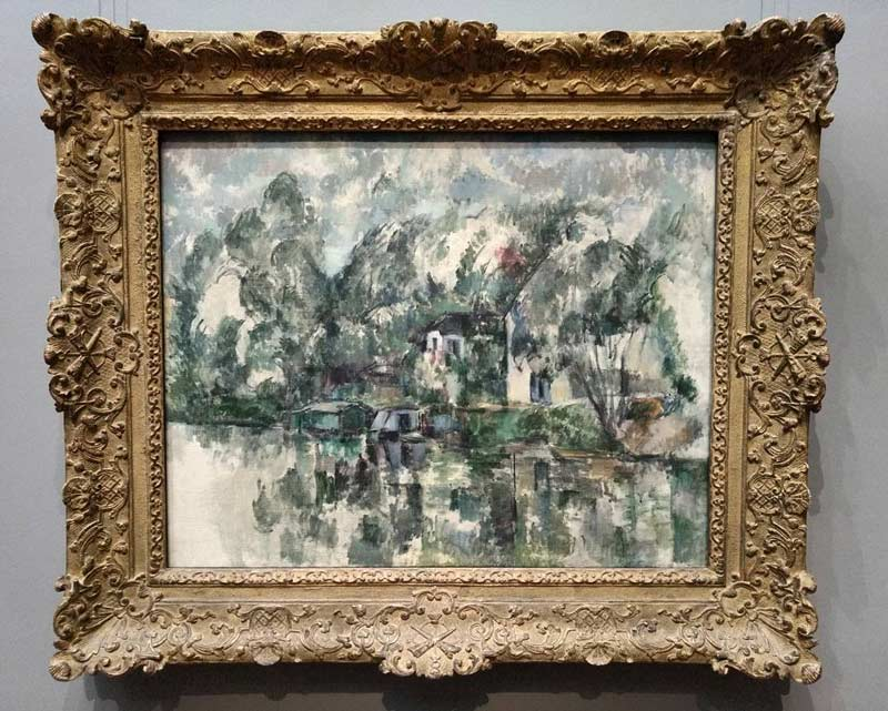 @cdkwdc - Paul Cézanne's At the Water's Edge at the National Gallery of Art - Where to see famous painters in Washington, DC