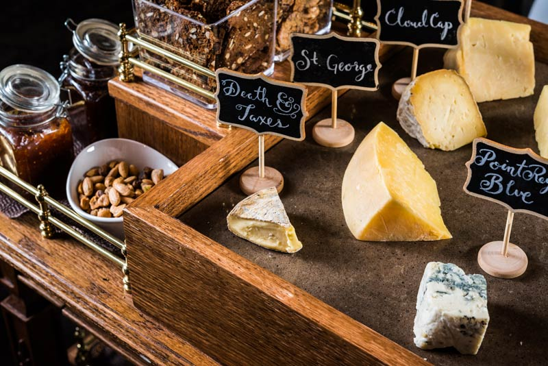 Cheese cart at Charlie Palmer Steak - Best meeting and convention break ideas in Washington, DC