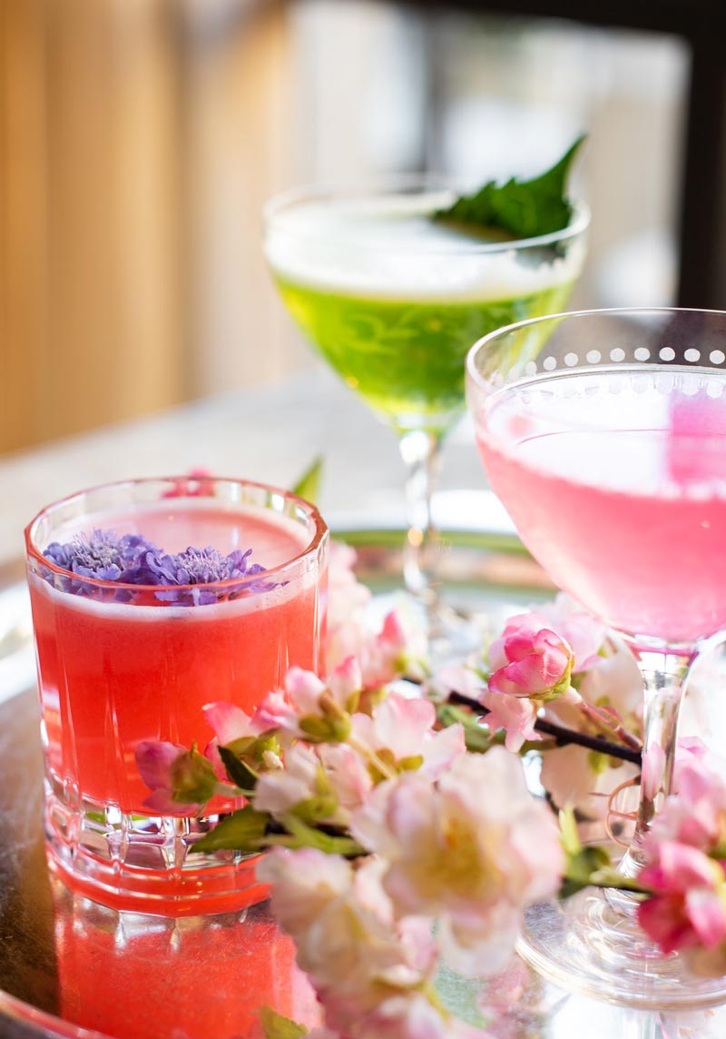 Cherry blossom cocktails at The St. Regis, Washington, DC - Cherry blossom places to eat and drink this spring