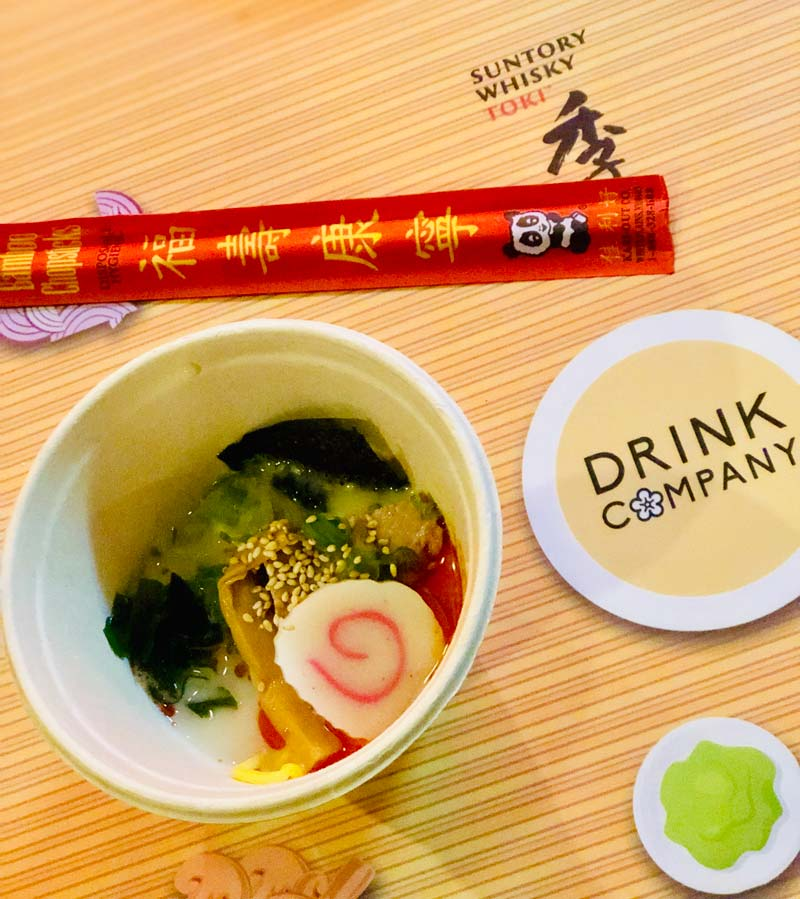 Ramen at the Cherry Blossom Pop Up Bar - Where to find cherry blossom-inspired food and drink in Washington, DC