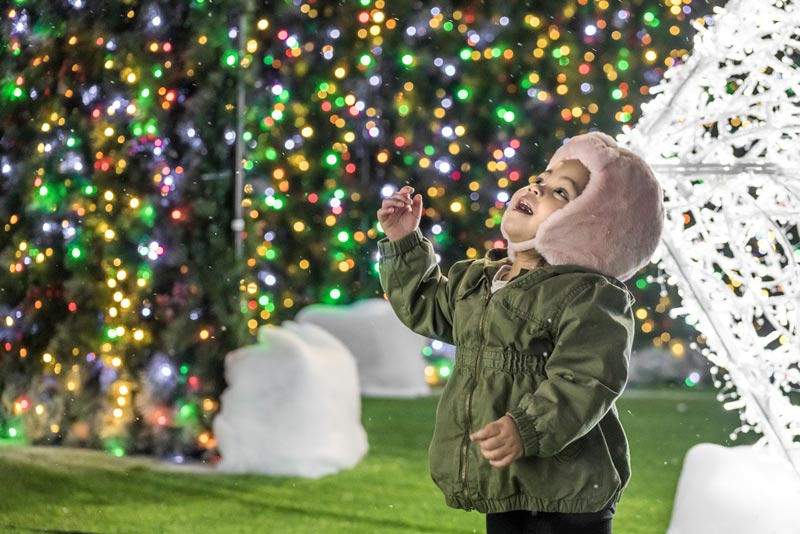 Child at Enchant Christmas holiday display - Holiday festivals and activities in Washington, DC