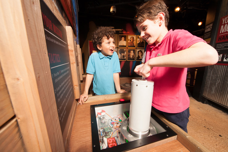 Children at International Spy Museum - Family-Friendly Museum in Washington, DC