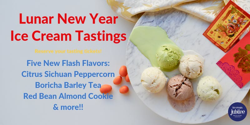 Lunar New Year Ice Cream Tastings at Ice Cream Jubilee - Ways to celebrate Chinese New Year in Washington, DC