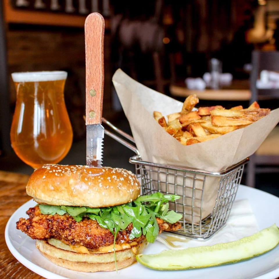 Burger and beer at City Tap House in Penn Quarter - Best sports bars in Washington, DC