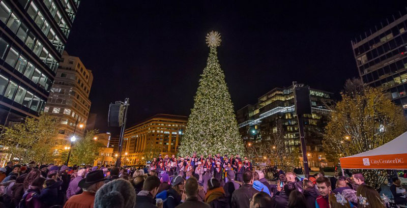 Christmas Tree Lighting at CityCenterDC - Holiday Events in Washington, DC