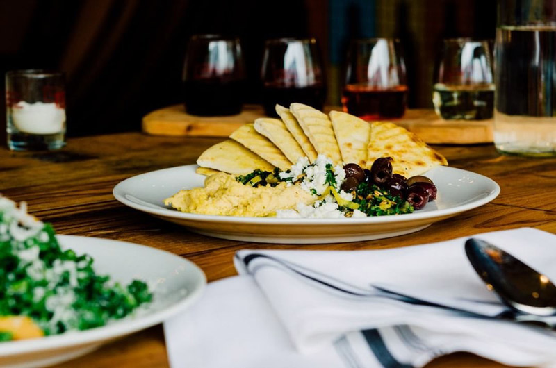 @citywinerydc - Hummus plate at City Winery in Ivy City - Restaurant and concert venue in Washington, DC