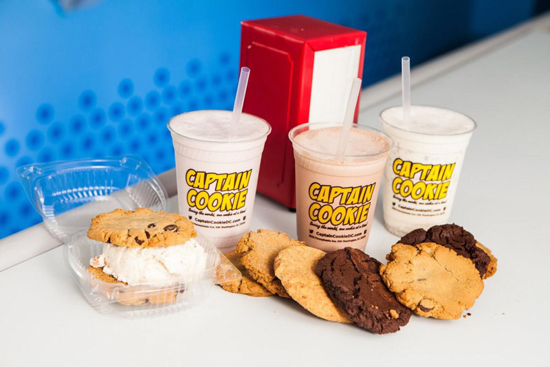 Cookies and ice cream from Captain Cookie and the Milkman - Local made in Washington, DC business