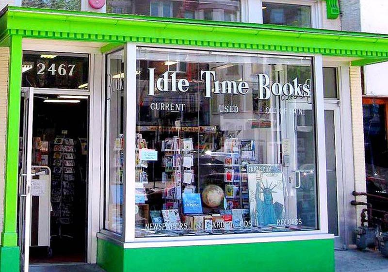 Storefront of Idle Time Books in Adams Morgan - Washington, DC's best bookshops