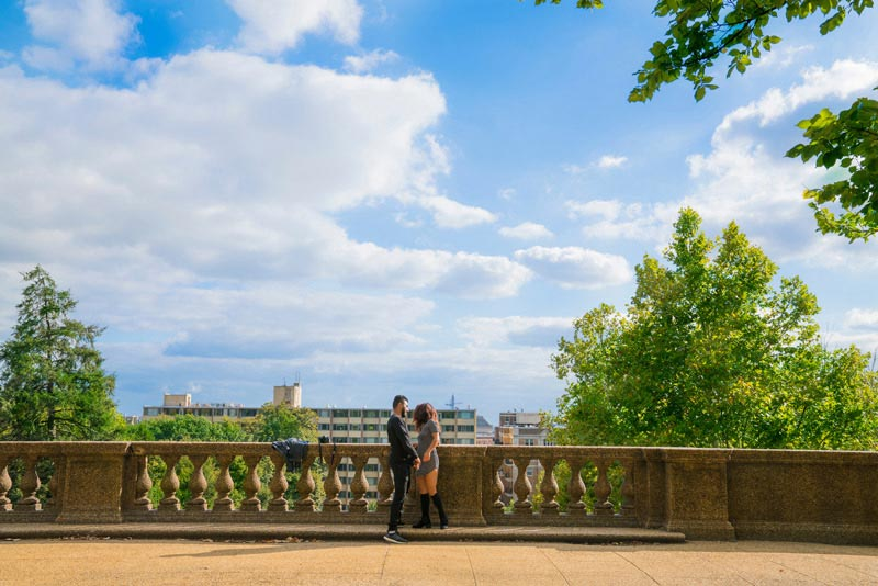 Couple at Meridian Hill Park - Romantic Spots in Washington, DC