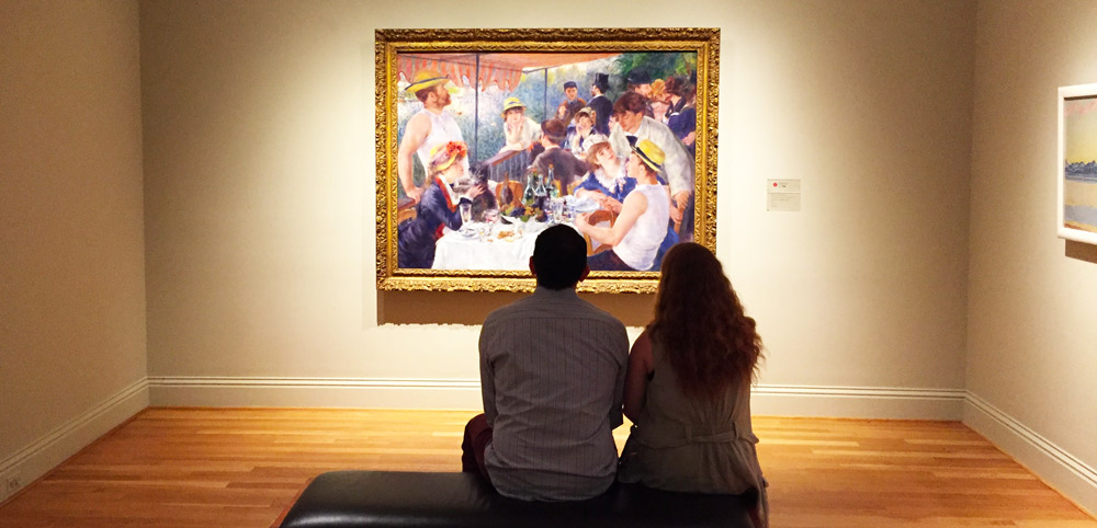 Couple Viewing Renoir's Luncheon of the Boating Party at The Phillips Collection - Washington, DC