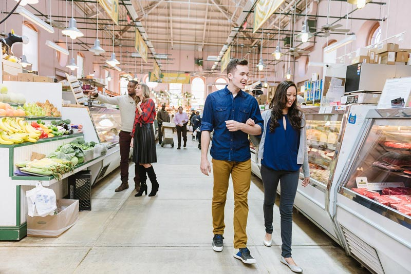 Couples shopping at Eastern Market on Capitol Hill - Things to do in Washington, DC