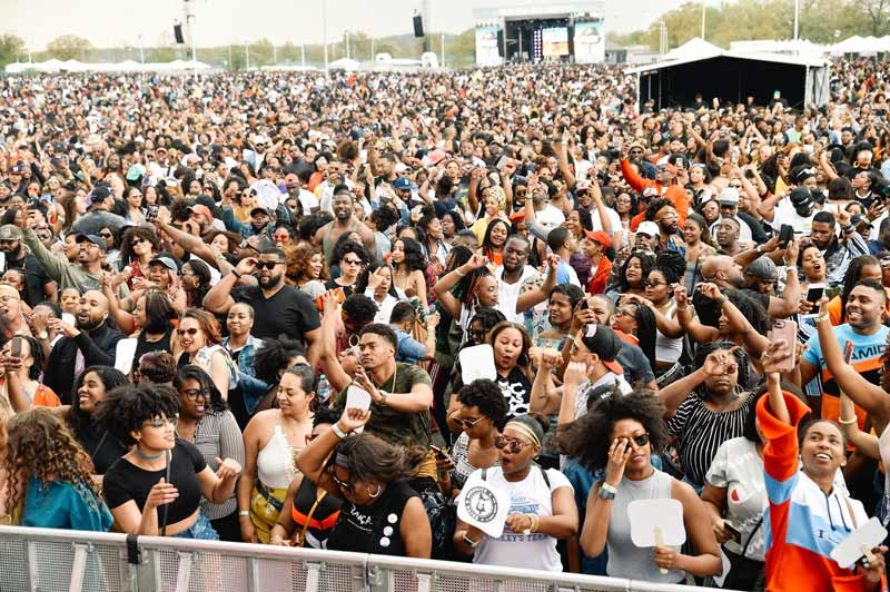 Crowd at Broccoli City Festival in Washington, DC - Spring concert and festival in Washington, DC
