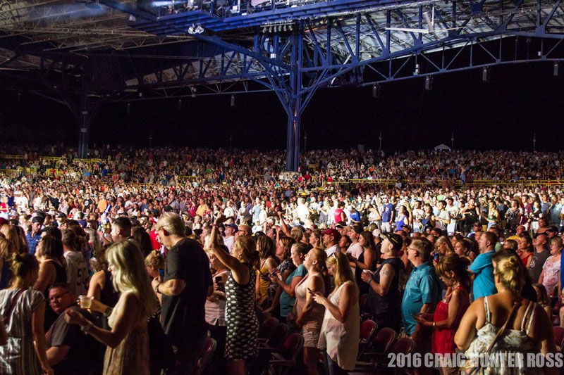 Crowd at Jiffy Lube Live Concert in Virginia - Outdoor Concert Venue and Amphitheater Near Washington, DC