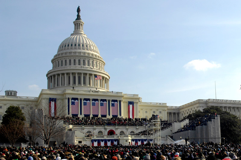 Crowd at U.S. Capitol for First Inauguration of President Barack Obama - Washington, DC