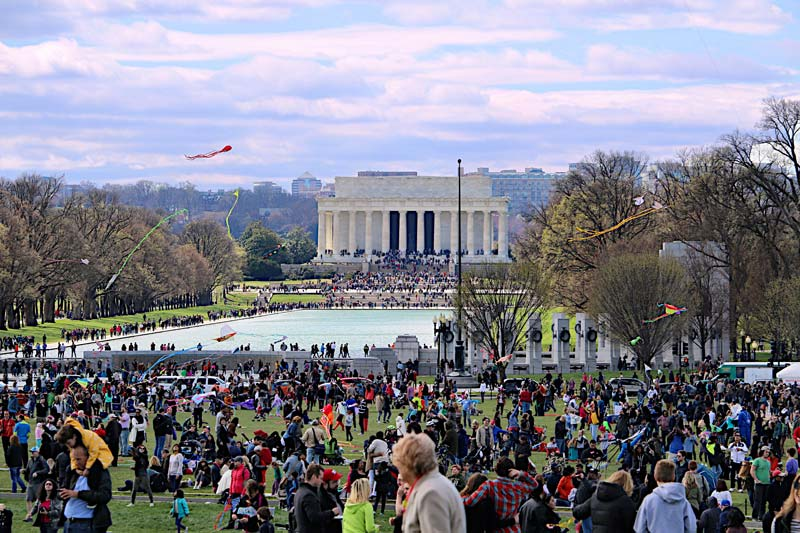 National Mall during the National Cherry Blossom Festival Kite Festival - Top reasons to visit Washington, DC
